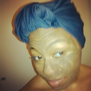 Me in my Cupcake LUSH facemask